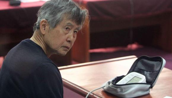 Alberto Fujimori en su última audiencia. (EFE)