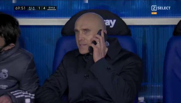 David Bettoni llamó a Zidane en pleno partido para hacer cambios. (Captura: ZSelect)