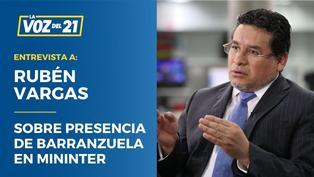 """Rubén Vargas: """"El narcotráfico pone en riesgo la democracia"""""""