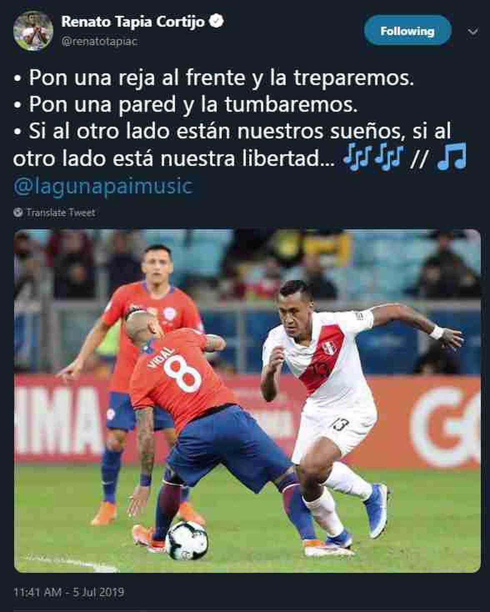 Twitter de Renato Tapia