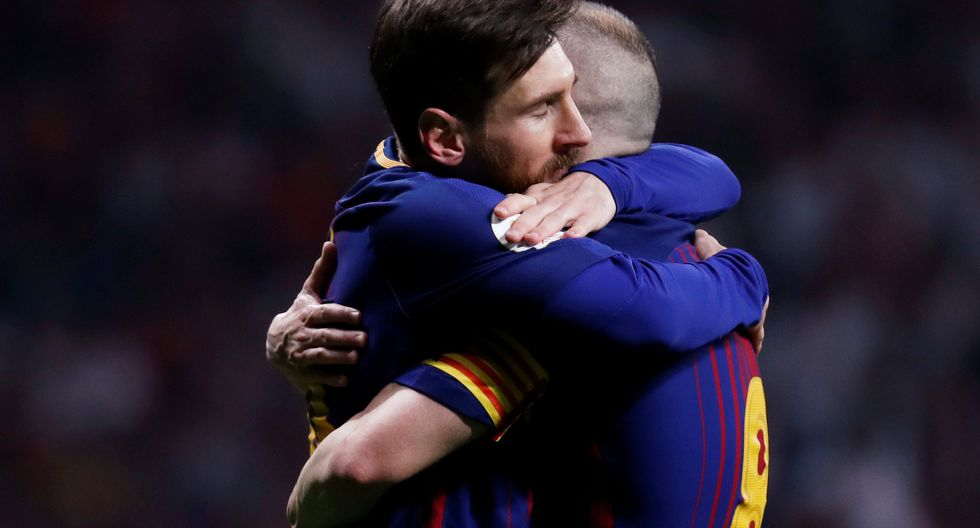 Andrés Iniesta disputó su última final como capitán del Barcelona. (GETTY IMAGES)