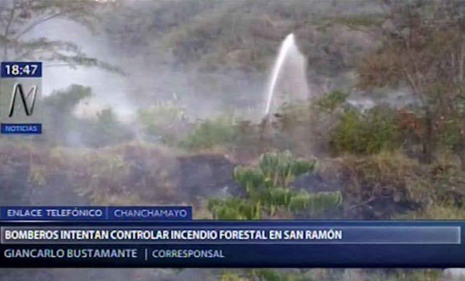 Los rescatistas de San Ramón y La Merced continúan trabajando; sin embargo, sus precarios equipos estarían dificultando el trabajo. (Foto: Captura Canal N)