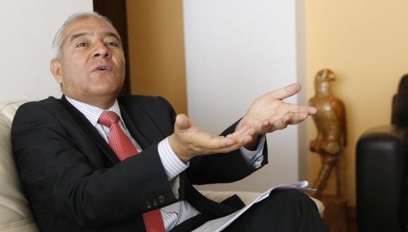 Wilfredo Pedraza, exministro del Interior, conversó con Perú21. (Luis Gonzales)