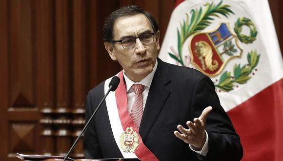 El presidente de la República, Martín Vizcarra, hizo una mención aparte en su mensaje a la Nación para hablar sobre la violencia contra la mujer. (USI)