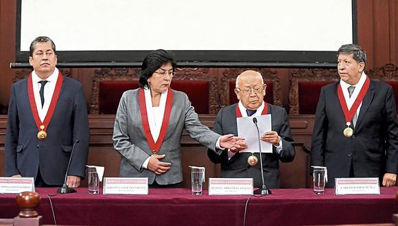 Tribunos Eloy Espinosa-Saldaña, Marianella Ledesma, Manuel Miranda y Carlos Ramos. (USI)