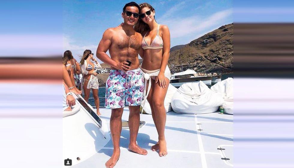 Richard Acuña y Brunella  Horna se muestran felices por la onomástico de la empresaria.  (Instagram: @richardacuna_)
