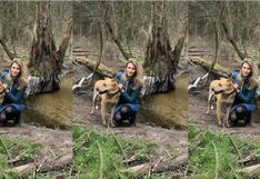 Modelo polaca adoptó a un perro y semanas después el can le desfiguró el rostro de un mordisco