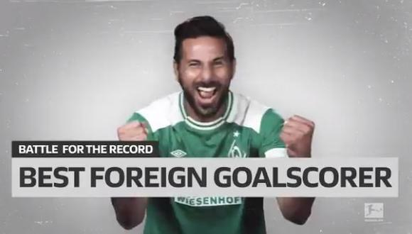 Claudio Pizarro es el máximo goleador extranjero de Bundesliga con 195 anotaciones. (Captura: Bundesliga)
