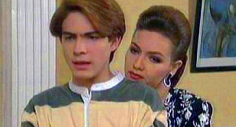 Los actores Thalía y Osvaldo Benavides se reencontraron después de 23 años. (Foto: Captura)