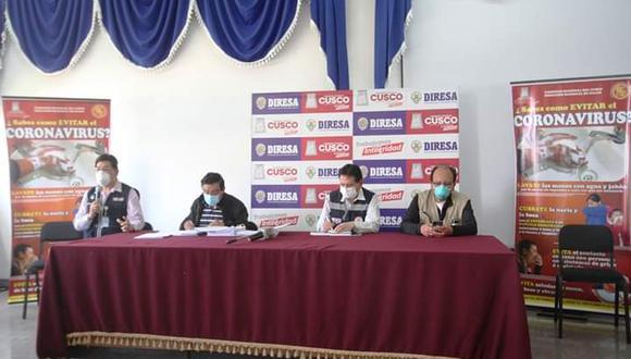 El director del Hospital Regional del Cusco dio las cifras en una conferencia de prensa en la Diresa. (Foto: GEC)