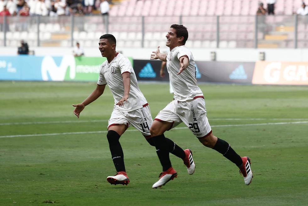 Aldo Corzo anotó el único tanto de la 'U' contra Cristal. (Renzo Salazar / Perú21)