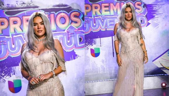 Karol G se hizo presente en la reciente edición de Premios Juventud. (Foto: @premiosjuventud).