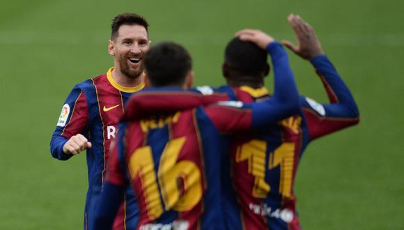 Barcelona vs. Osasuna se miden en la jornada 26 de LaLiga Santander. (Foto: AFP)