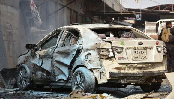 El ataque con coche bomba ocurrió a las 09:00 a.m., hora local, e hirió a otros cinco agentes y a 11 civiles. (Foto: AFP)