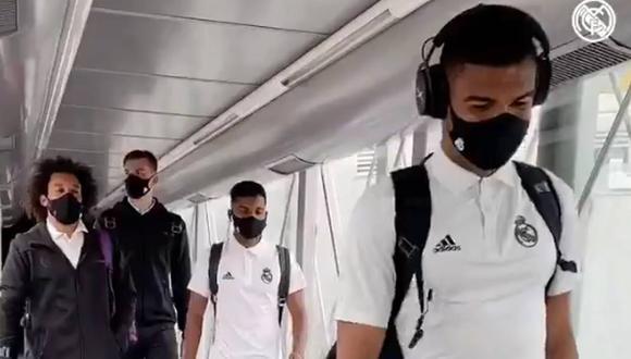 Una avería en el avión que trasladaría a Real Madrid hasta San Sebastián. (Foto: Real Madrid)