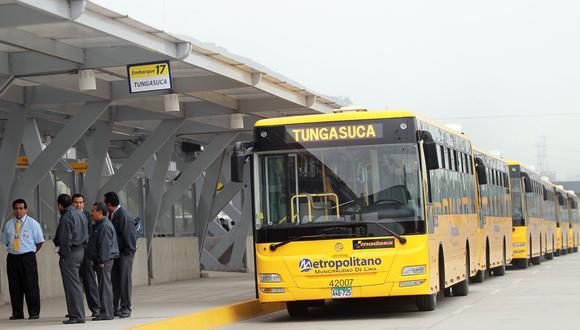 Metropolitano garantizó la operación del servicio de rutas alimentadoras. (Foto: Andina)