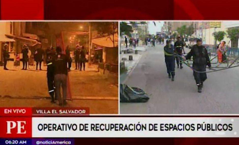 Esta diligencia busca erradicar la presencia de comercio en cinco calles del sector II Grupo 13.(Captura: América Noticias)