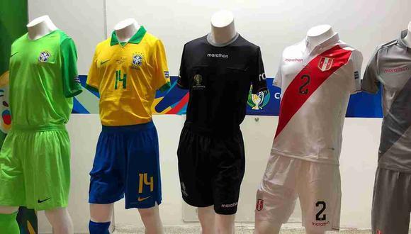 Estas son las indumentarias que lucirán las selecciones de Perú y Brasil para la final. (Foto: Selección Peruana)