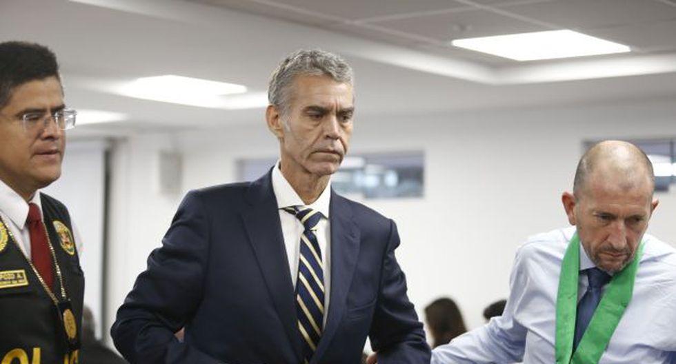Víctor Albrecht durante una de las audiencias en las que se evalúa el pedido de prisión preventiva en su contra. (GEC)
