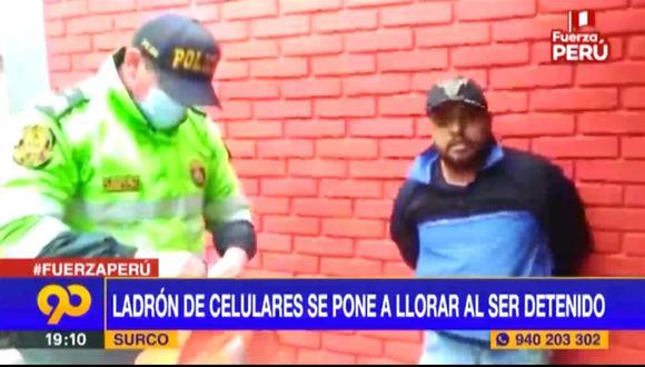 Policías y serenos atraparon al extranjero. (Captura Latina)