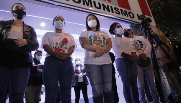 Lideresa de Fuerza Popular se volvió a pronunciar ante sus simpatizantes en el Centro de Lima. (Anthony Niño de Guzmán/GEC)