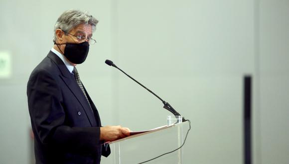 El presidente Francisco Sagasti destacó la trayectoria de Cluber Aliaga, nuevo ministro del Interior. (Foto: Presidencia)