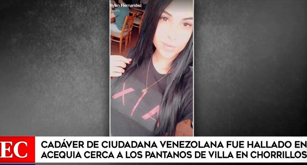 La venezolana Joselyn Daniela vasquez Hernández fue hallada muerta cerca de los Pantanos de Villa. (América Noticias)