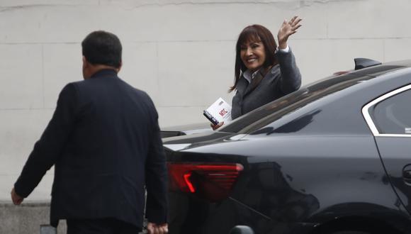 La ministra María Jara, de Transportes, participa en el la reunión en Palacio de Gobierno encabezada por Martín Vizcarra. (Foto: GEC)