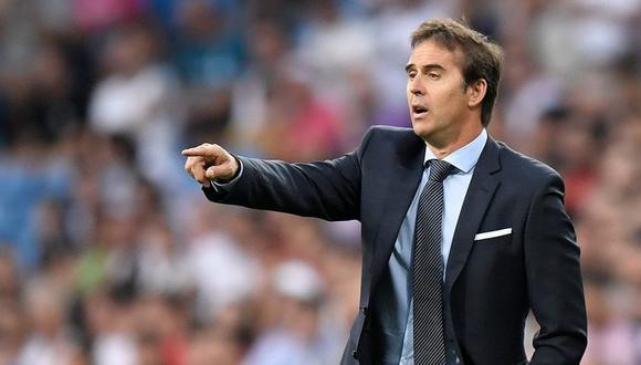 Julen Lopetegui se hizo cargo de Real Madrid desde esta temporada. (Foto: AFP).