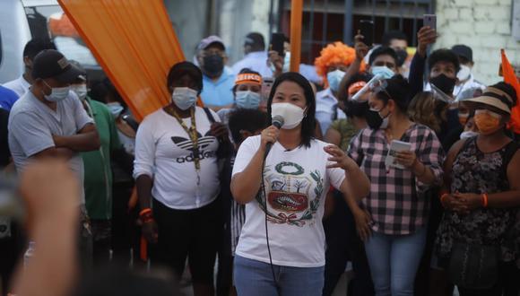 Keiko Fujimori disputa la segunda vuelta electoral con Pedro Castillo. (Foto: Hugo Pérez / GEC)