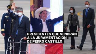 ¿Quiénes son los presidentes que llegarán a la toma de mando de Pedro Castillo?