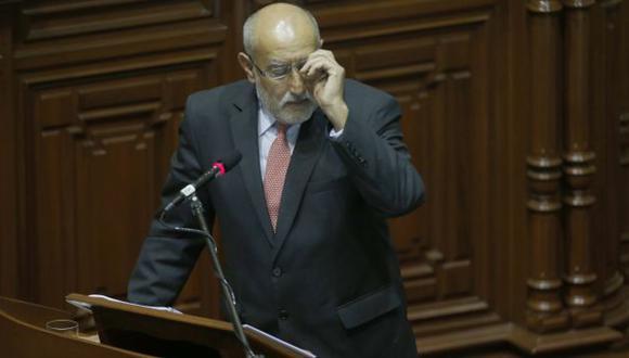 El ministro Mayorga se salvó de la censura en el Congreso por el caso Interoil, en setiembre pasado. (Martín Pauca)