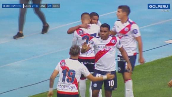 Fabricio Cabrera anotó su tercer gol en el torneo con Deportivo Municipal. (Captura: Gol Perú)