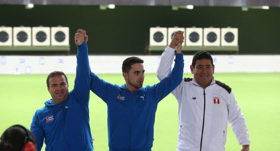 Panamericanos Lima 2019: Peruano Marko Carrillo quedó en 3er lugar en Tiro Rápido de 25 metros con pistola. Los cubanos Jorge Álvarez y Leuris Pupo se quedaron con el 1er y 2do lugar respectivamente. (Fotos: Violeta Ayasta)