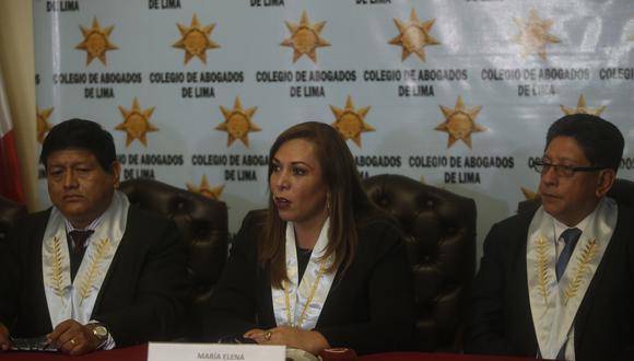 Colegio de Abogados de Lima exige transparencia en las decisiones adoptadas por las autoridades, sobre el caso Vela y Pérez. (Foto: GEC)