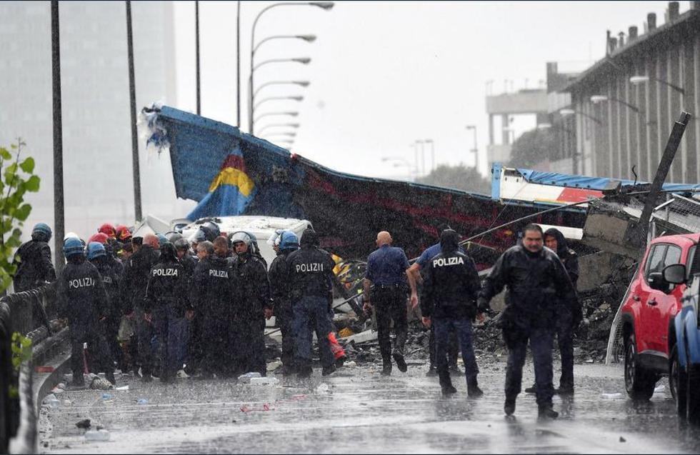 Derrumba ha dejado hasta el momento 20 muertos. (Polizia di Stato)
