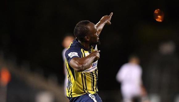 """""""Jugar mi primer partido como titular y marcar dos goles, es una bonita sensación"""", aseguró Bolt tras el encuentro. (Foto: EFE)"""