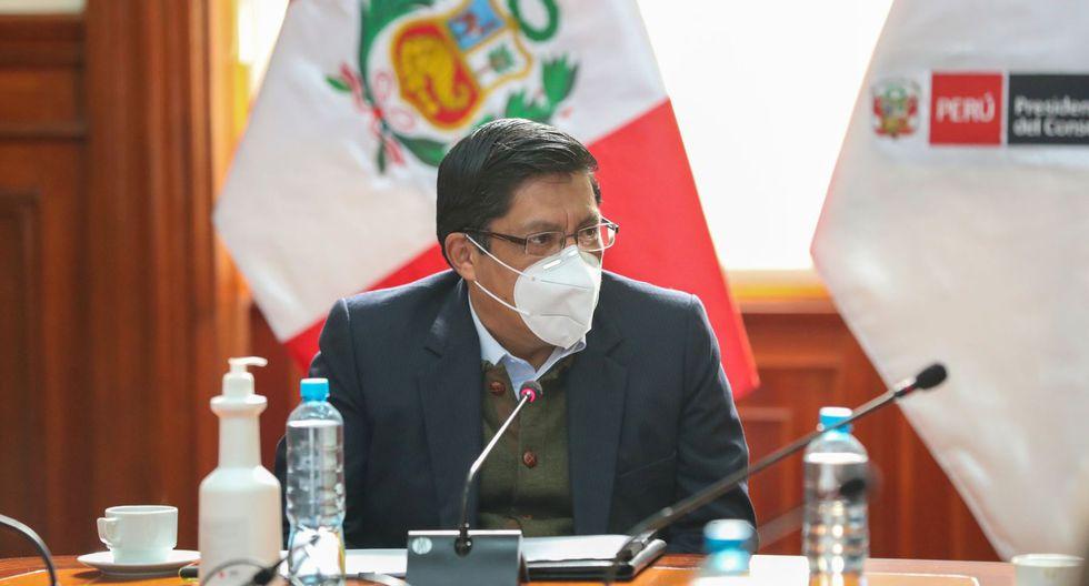 El presidente del Consejo de Ministros, Vicente Zeballos, consideró que desde el Congreso, se debería trabajar en una agenda única. (Foto: Andina)