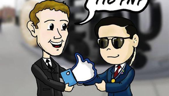 PNP rindió homenaje a Mark Zuckerberg con un meme especial. (Facebook de la PNP)