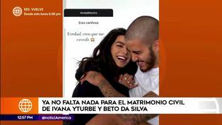 Ivana Yturbe sorprende a sus seguidores revelando detalles de su boda con Beto da Silva