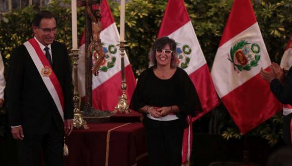 Ulla Holmquist entró en reemplazo de Rogers Valencia y es la tercera en asumir la cartera desde que Vizcarra ocupó el sillón presidencial. (Foto: GEC)