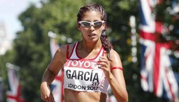 Kimberly García alcanzó nuevo récord en el Mundial de Atletismo en Londres. (EFE)