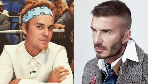 El joven cantante le jugó una broma al ex futbolista David Beckham. (Foto: Composición/Instagram)