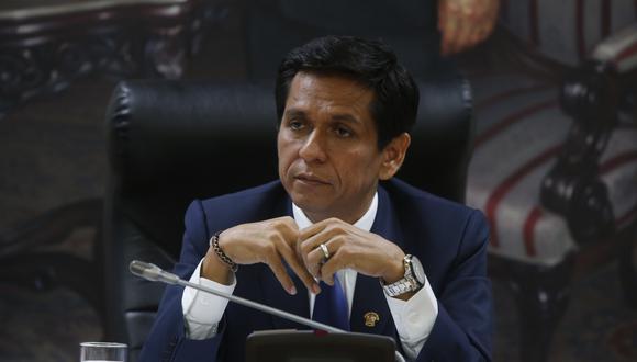 El vocero alterno de Peruanos por el Kambio, Jorge Meléndez, cuestionó al primer ministro César Villanueva por decir que no cuentan con una bancada. (FOTO: USI)