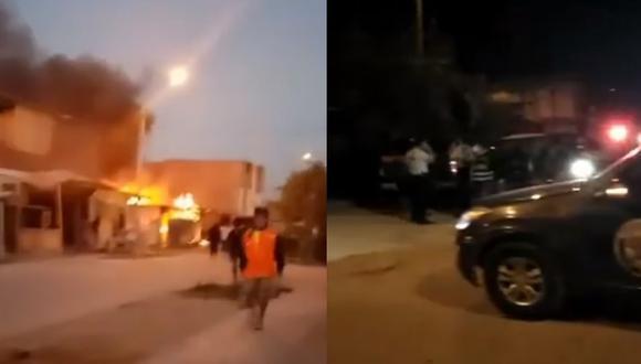 Piura: menor de edad muere en balacera con incendio durante toque de queda   VIDEO