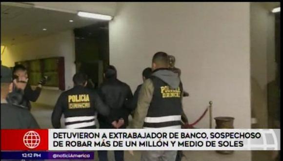 Yohan Francisco Matta Bahamonde (41) fue llevado a la sede de la Dirincri. (América Televisión)