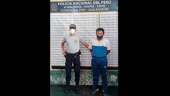 Junín: la víctima del agresor fue trasladada de emergencia al Hospital Félix Mayorca Soto de Tarma. (Foto: PNP)