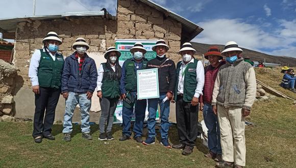 Apurímac: Midagri entregó títulos de propiedad a pobladores de la comunidad campesina quechua Andrés Avelino Cáceres de la provincia de Cotabambas.