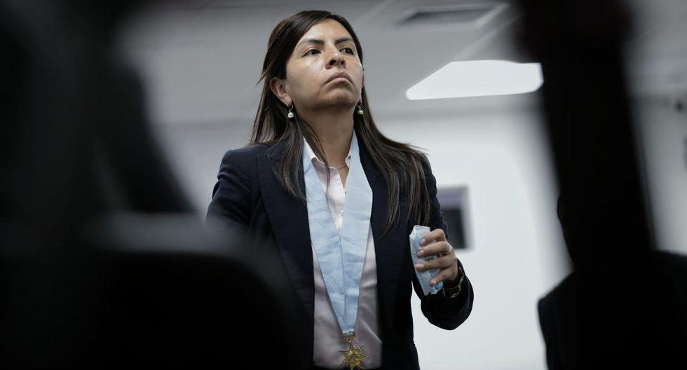 """Giulliana Loza aseveró que la fiscalía ha tenido un """"trato discriminatorio"""" en contra de Keiko Fujimori . (Foto: GEC)"""