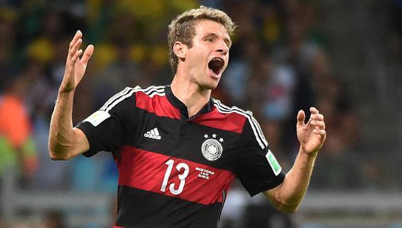 Thomas Müller no puede creer paliza que le dio su equipo a Brasil. (AFP)